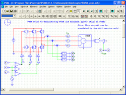 PMSM drive system with the power circuit implemented in PSIM